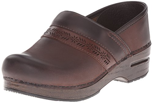 Dansko Women's Penny BR Mule, Brown Burnished Nubuck, 36 EU/5.5-6 M US ()