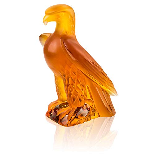 Lalique Liberty Eagle Sculpture Amber (Lalique Crystal Amber)
