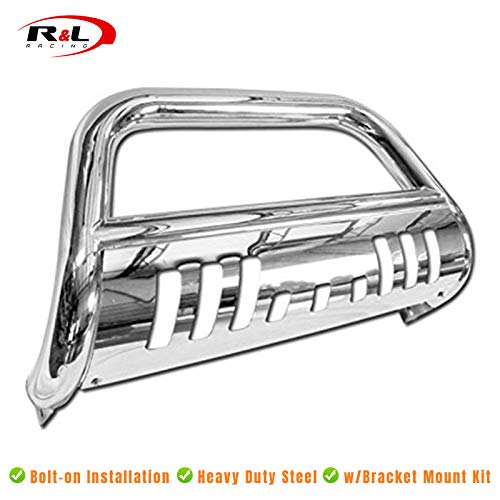 R&L Racing Chrome Bull Bar Stainless HD Push Bumper Grill Grille Guard 2010-2015 for Dodge Ram 2500/3500