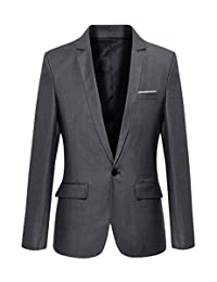Beninos Mens Slim Fit Casual One Button Blazer Jacket