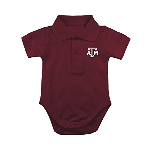 Texas A&M Aggies NCAA College Newborn Infant Baby Polo Creeper (0-3 Months)