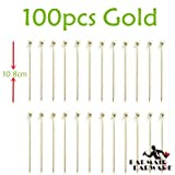 | Cocktail Picks | 100pcs 10.7cm-11cm Cocktail Pick Stainless Steel Fruit Sticks Bar Tools Drink Stirring Sticks MarNAHASU Picks Party 3 colors | by NAHASU