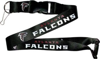 NFL Atlanta Falcons Team Lanyard, Black