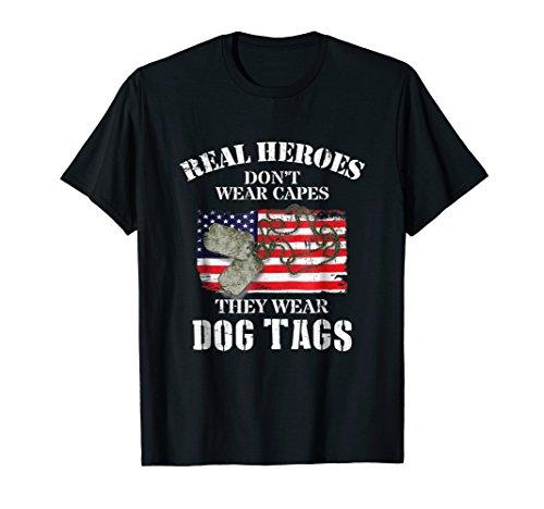 American Veteran Flag and Dog Tag Shirts