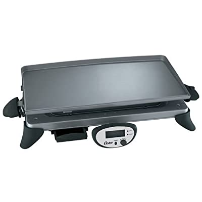 Oster CKSTGRRD25 20-by-10-Inch Digital Griddle with Removable Plate, Gray