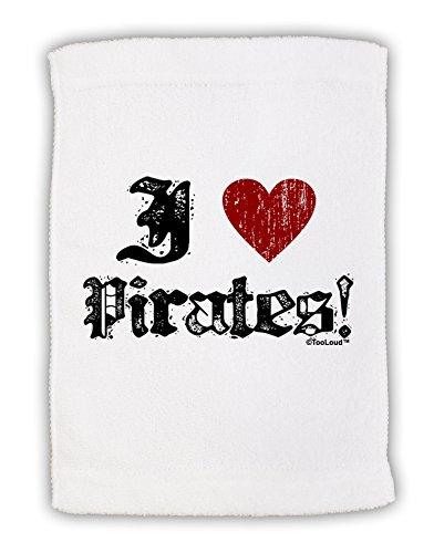 [TooLoud I Heart Pirates Micro Terry Sport Towel 11