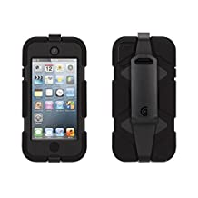Griffin Black/ Black Heavy Duty Survivor Case with belt clip for iPod touch (5th/ 6th gen.) - Extreme-duty case by Griffin Technology