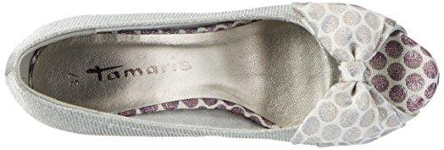 Tamaris 29300, Zapatos de Punta Descubierta para Mujer Plateado (Silver Comb 948)
