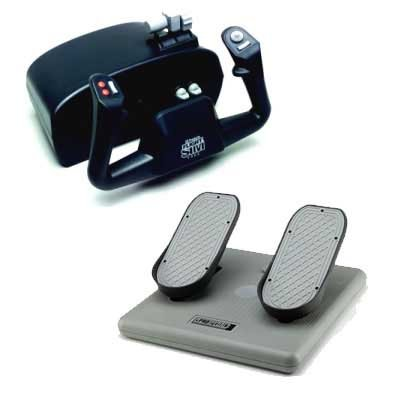 Flight Sim Yoke Pedals - CH Products Flight Sim Yoke and Pedals Beginner Bundle