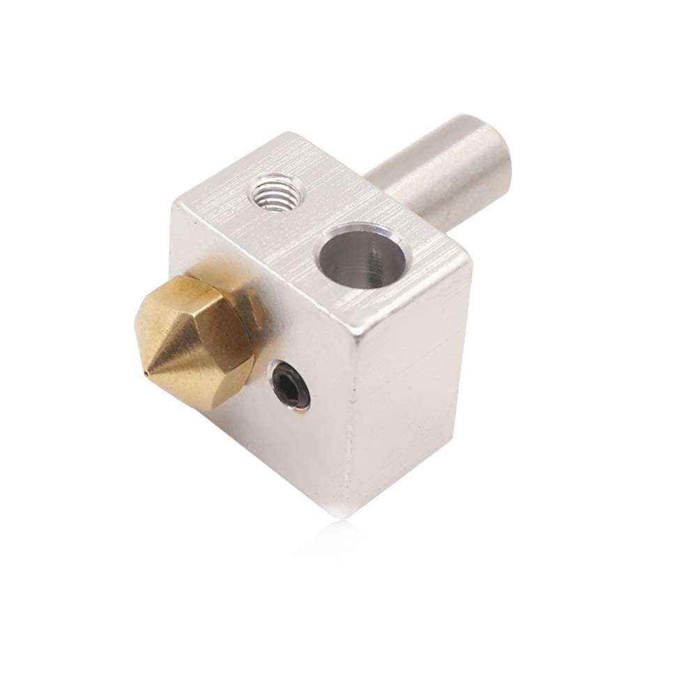 Glsmile Brass Extruder Nozzle Kit 3D Printer Accessories MK10 Extrusion Head Throat Tube Aluminum Heating Block Kit M7 Nozzle Kit