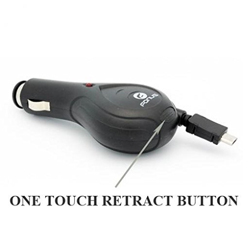 Retractable Car DC Charger Power Adapter Micro-USB for