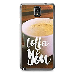 Loving Samsung Note 3 Transparent Edge Case - Coffee and You