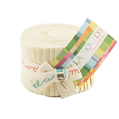 Bella Solids Fig Tree Cream Jr Jelly Roll (9900JJR 67) by Moda House Designer for Moda by Moda Fabrics