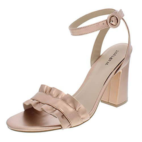 (Indigo Rd. Womens Sandie2 Metallic Dress Sandals Gold 6 Medium (B,M))