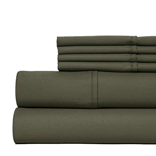 Mayfair Linen Bedding Collection 800 Thread Count SHORT QUEEN Sheet Set for Camper/RV - Grey (Linen Bedding Collections)