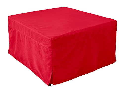 Nova Furniture Group Magical Ottoman Sleeper With Microfiber Slip Cover, Red ()