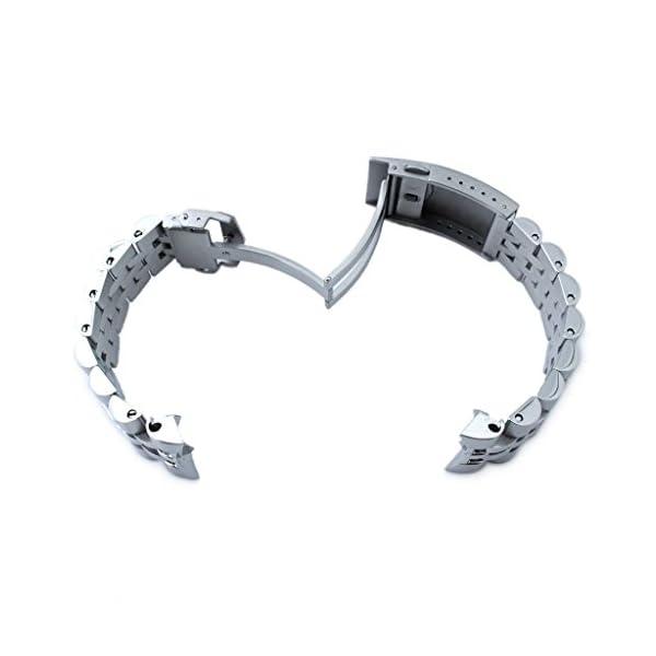 22mm-ANGUS-Jubilee-316L-SS-Watch-Bracelet-for-Seiko-SKX007-BrushedPolished-V-Clasp