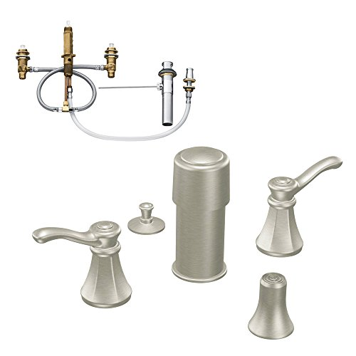(Moen KBVE-D-T5250BN Vestige Two-Handle Bidet Faucet, Brushed Nickel)
