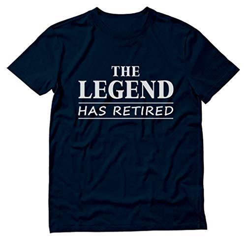 TeeStars - The Legend Has Retired - Best Retirement Gift Idea T-Shirt Large Navy