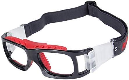 保護メガネ スポーツメガネ 丈夫なレンズ 柔らかい鼻パッド C字型の接続バックル 滑り止めヘッドバンド 8色選べる hjuns-Wu