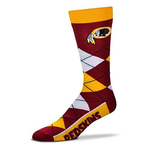 NFL Washington Redskins Argyle Unisex Crew Cut Socks - One Size Fits Most