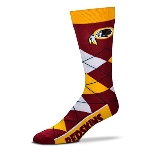 Washington Redskins Nfl - NFL Washington Redskins Argyle Unisex Crew Cut Socks - One Size Fits Most