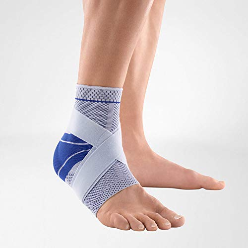Bauerfeind - MalleoTrain Plus - Ankle Support - Extra Stability for The Ankle Joints and Tendons - Left Foot - Size 3 - Color Titanium