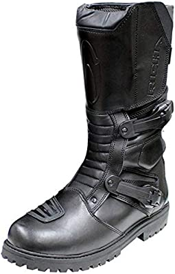 RKsports Adventure Motorcycle Motorbike Leather Protective Boots