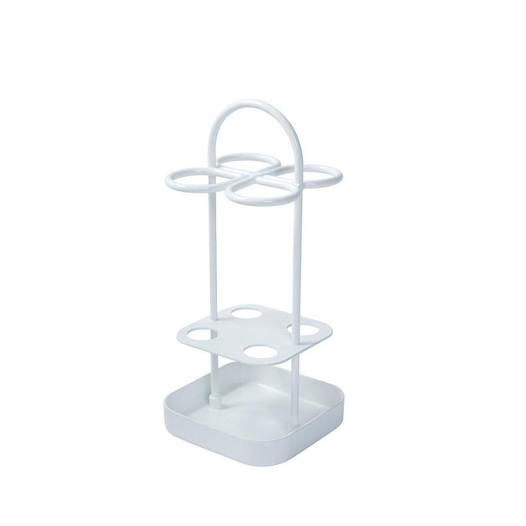 XUEXUE Umbrella Stand Metal Free Standing Long/Short Umbrella Umbrella Hotel Umbrella Storage Shelf 12x12x26.6cm (Color : White)