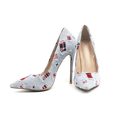 ZAPROMA Dm Gorgeous Womens haut talon femmes chaussures luxe pompes de mariage Multicolore LcwxRroFd