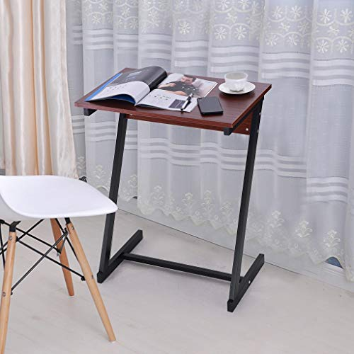 Sodoop Laptop Desk, Sofa Table TV Tray End Table Laptop Desk Removable Console, Premium Portable Side Table for Eating, Writing, Reading 2 Drawer Teak Nightstand