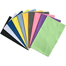 ColorYourLife 10-Pack Microfiber Cleaning Cloths for Apple iPhone ,Smart phones, Ipad, Tablets, Lenses, LCD Monitor, TV, Camera, Glasses, Optics Etc (Colorful)