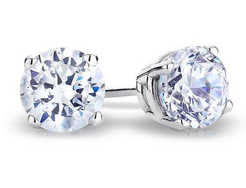 1/2 Carat (ctw) Diamond Stud Earrings in 14K White Gold
