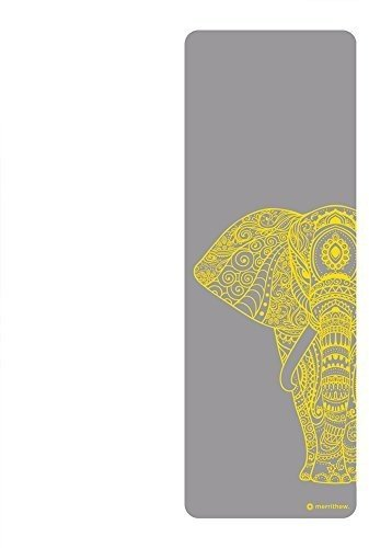 STOTT PILATES Elephant Yoga Mat, Gray, 0.25'/6mm
