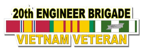 Military Vet Shop U.S. Army 20th Engineer Brigade Window Strip Window Bumper Sticker Decal -