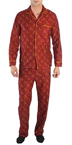 Harry Potter Glasses Lightning Bolt All Over Print Men's Pajama Set (X-Large)