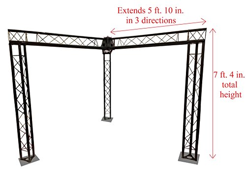 usses DJ Stage 7' x 5' Metal Truss Triangle Trusses Black ()