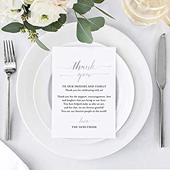 Amazon Com Bliss Collections Wedding Place Setting Thank You
