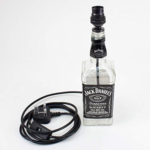 Bottle Lamp kit21 | 19-21mm Bung | Black Cable | Bronze Lampholder.