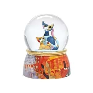 Goebel 66882200 Rosina Wachtmeister Venezia - Bola de cristal con figuras de porcelana, diseño de gatos
