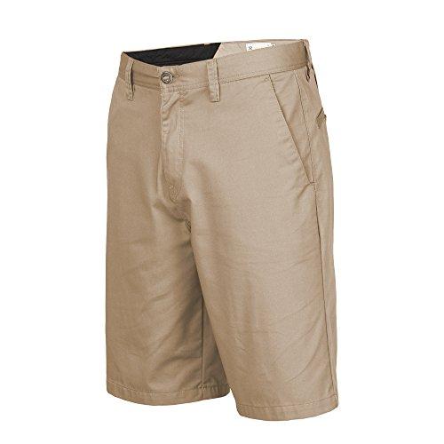 Khaki Walking Shorts - Volcom Men's Frickin Chino Short, Khaki, 32