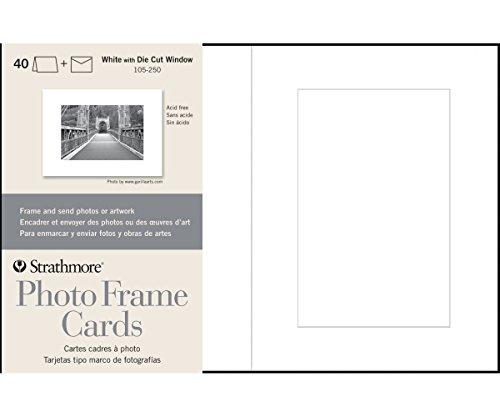 - Strathmore (105-250 Photo Frame Cards Cutout Window, White, 40 Envelopes