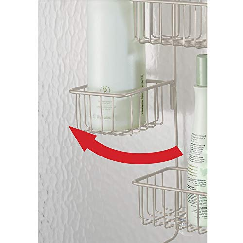 InterDesign Metalo Adjustable Over Door Shower Caddy – Bathroom Storage Shelves for Shampoo, Conditioner and Soap, Satin by InterDesign (Image #6)