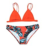 WOCACHI Christmas Final Clear Out Women Women's Sexy Bikini Set Leaves Rope Swimsuit