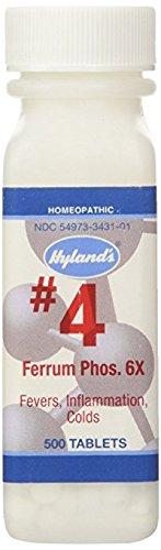 Hylands, Ferrum Phosphate 6X, 500 Tablets