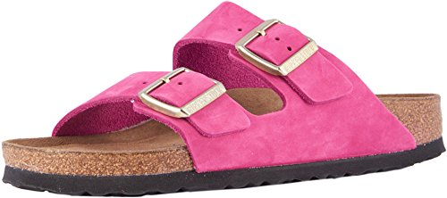 Birkenstock New Women's Arizona SF Slide Sandal Fuchsia Nubuck 37 N