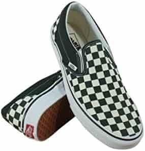 f5609282c7d1 Vans Unisex Classic Slip-On (Checkerboard) Scarab White VN0A38F7QTJ Skate  Shoe