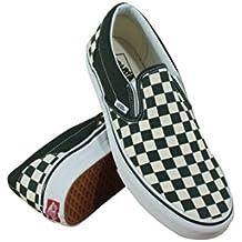 Vans Classic Slip On Checkerboard Unisex Shoes Green/White Men/Women Sneakers