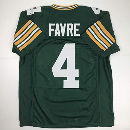(Unsigned Brett Favre Green Bay Green Custom Stitched Football Jersey Size Men's XL New No)