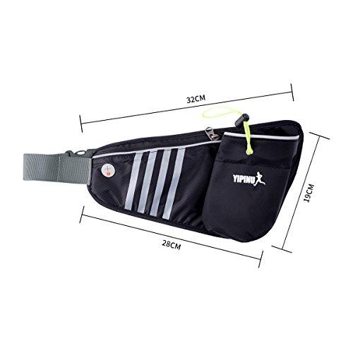 Trinkgürtel Hüfttasche Damen Herren Fanny Pack für Sport Handy Kompatibel mit 5.5  Blau YwPX1uPB